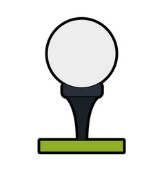 Tee and ball golf related icon image vector