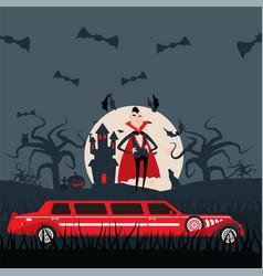 vampire dracula cartoon character luxury vector image