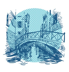 Venice cityscape drawing vector image