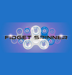 White fidget finger spinner horizontal web banner vector