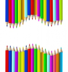 wooden pencils vector image vector image
