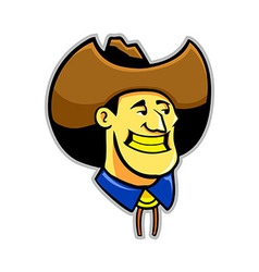 Yellow teeth cowboy vector