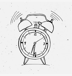 alarm clock doodle vector image vector image
