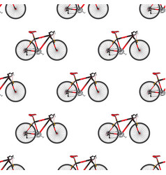 bike pattern in flat style sport bicycle vector image vector image