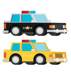 police car set flat vector image
