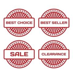 Red Rubber Stamp Set Sale best seller best choice vector image vector image