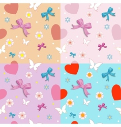 Seamless with bows vector image