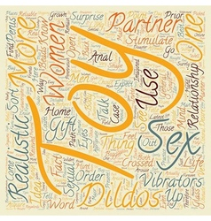 Sex Toys Women text background wordcloud concept vector image