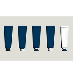 Tubes for packaging blue set vector