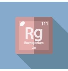 Chemical element Roentgenium Flat vector image vector image