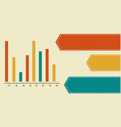 Graph and data concept business infographic vector