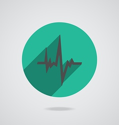 Pulse heart rate black icon in flat style vector image vector image