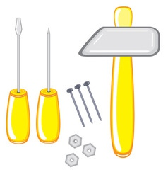 repair tools on white background vector image