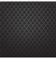 Square black metal grill vector