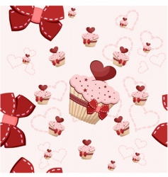 birthday cake pattern vector image vector image