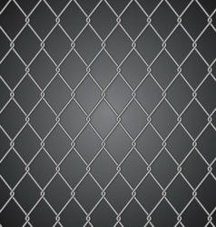 Metal fence on dark background vector image