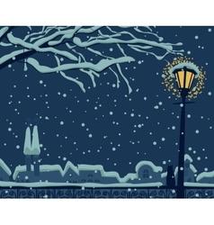 Night urban winter vector image vector image