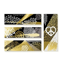 Set of modern gold banners and fashion designs vector image vector image