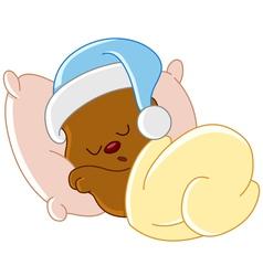 teddy bear sleeping vector image vector image