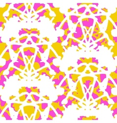 Vintage damask pattern with abstract shapes vector image vector image