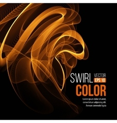 Abstract orange swirl background vector image vector image