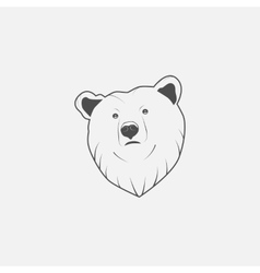 bear icon in grayscale vector image vector image