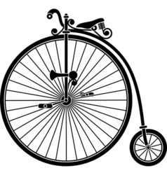 Penny Farthing Antique Vintage Bicycle vector image