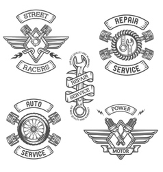 Set of Car emblems badges vector image vector image