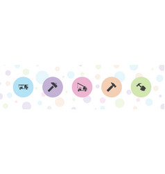 5 advertising icons vector