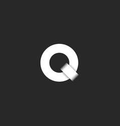a simple q logo is a letter in form two vector image