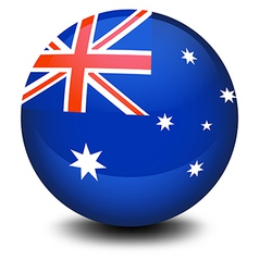 A soccer ball with the flag of Australia vector