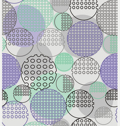 abstract geometry from contoured circles with vector image