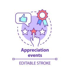 Appreciation events concept icon customer vector