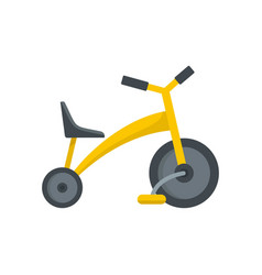 Baby tricycle icon flat style vector