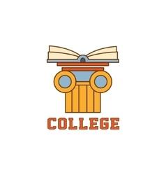 Book On Pillar Logo vector