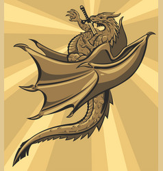 brown slain dragon vector image