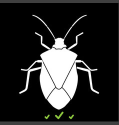 Bug it is white icon vector