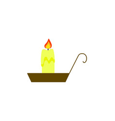 candle of color icon in halloween fire vector image