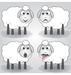 Cartoon of sheep vector