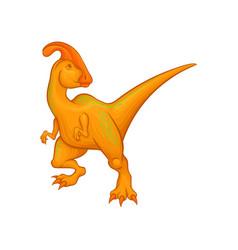 cartoon parasaurolophus character fantastic vector image