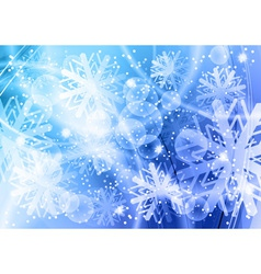 christmas backgroun in the blue vector image