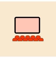 Cinema hall in flat style vector