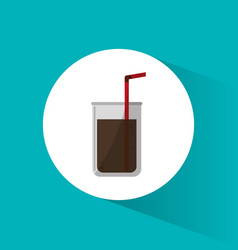Cinema soda drink beverage with straw vector