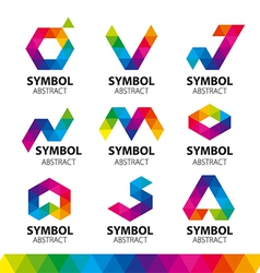 Collection logos from abstract modules vector