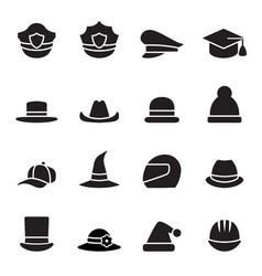 collection of black hat vector image