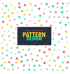Colorful triangles pattern background vector