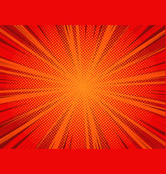 comic book cartoon background with halftone vector image