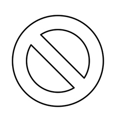 Denied sign isolated icon vector