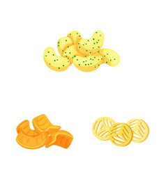 Design food and crunchy icon collection vector