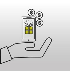 e-commerce gift money icon design vector image